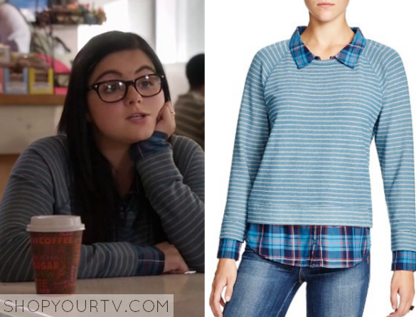 Modern Family Season 7 Episode 8 Alex S Striped Sweater Shop Your Tv Stripe Sweater Modern Family Sweater Shop