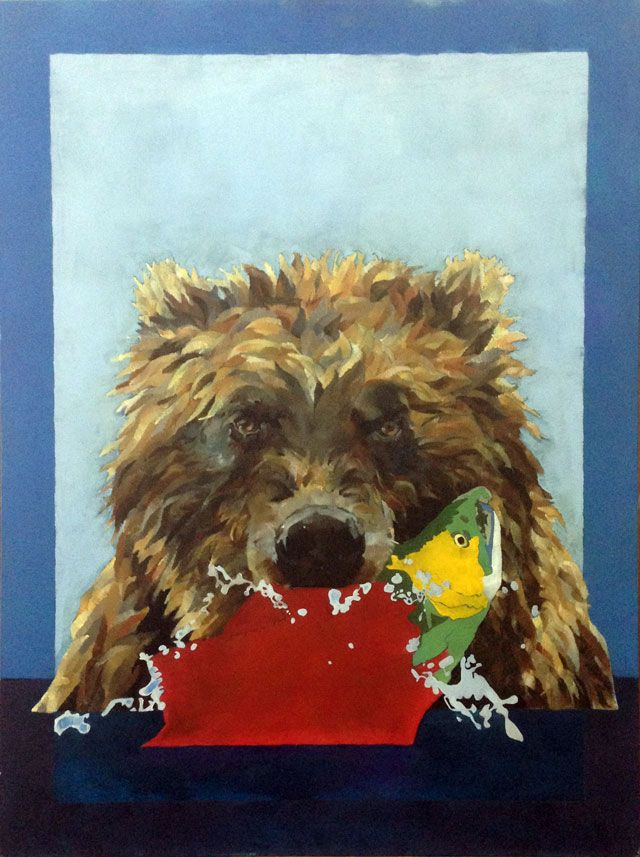 Grizzly Bear, Wild Life Oil Paint