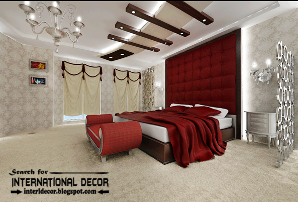 Luxury Bedroom Decorating Ideas Designs Furniture 2015 Gypsum Ceiling