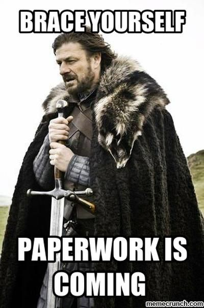 Image result for confusing paperwork funny