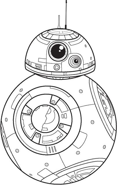 Star Wars The Force Awakens Coloring Pages Star Wars Coloring Book Star Wars Colors Star Wars Bb8