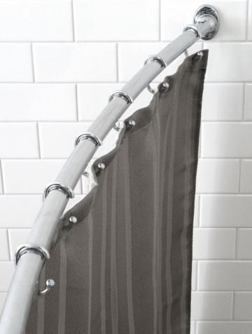 Curved Shower Rod Love The Look Home Style Bathroom Black Shower Curtains Shower Curtain Rods