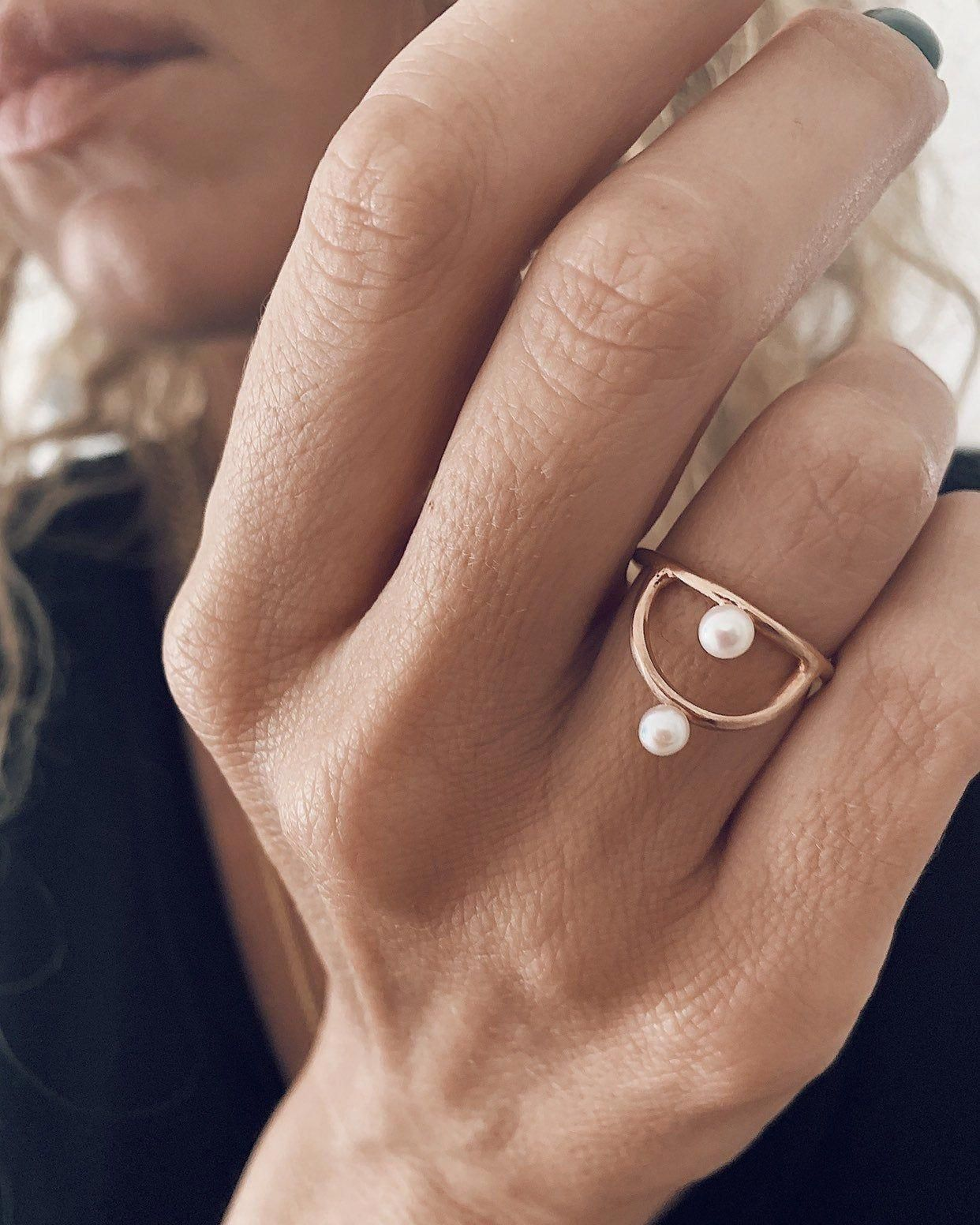 Gold Dainty Solitaire Ring Ethnic Fine Ring Handmade 925 Sterling Silver Jewelry Minimalist Wedding Jewelry Designer Stackable Ring for her