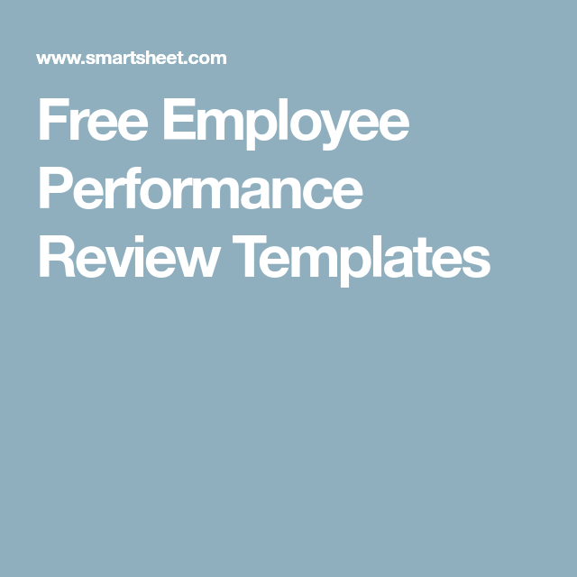 Free Employee Performance Review Templates  Writing Skills