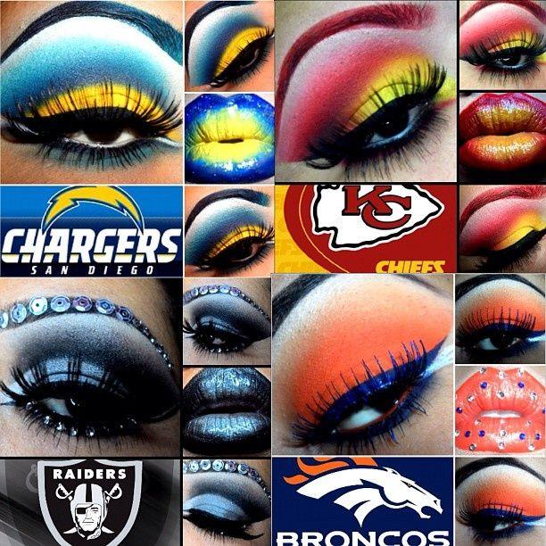 Pin By Joy Derfuss On Sports Team Makeup Super Bowl Makeup