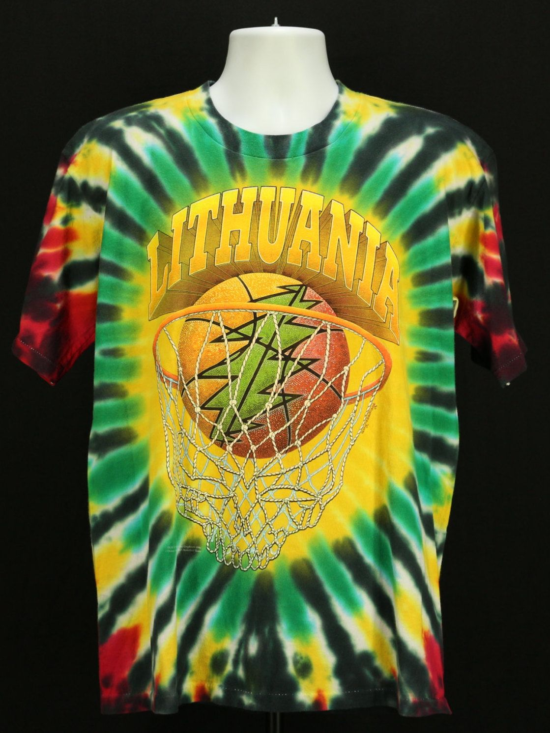 e4dd5ef8c Vintage 90s GRATEFUL DEAD Lithuania Tye Dye Tour T-Shirt LG Basketball  Olympics by JeepsterVintage on Etsy