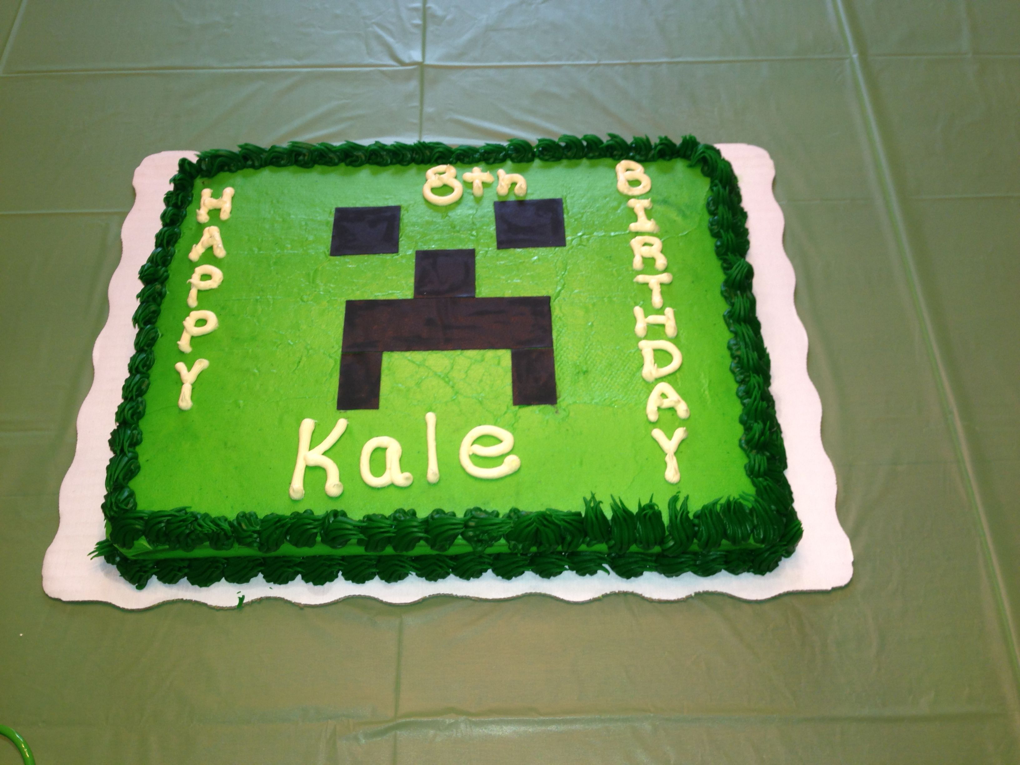 Minecraft Cake For Jason S 11th Birthday Party Looks Simple