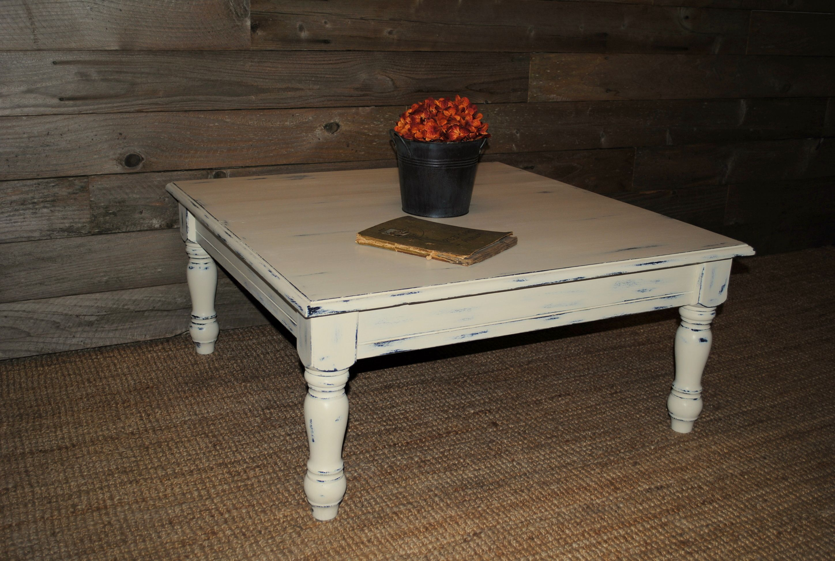 Custom Coffee Table done in Old White AnnieSloan ChalkPaint