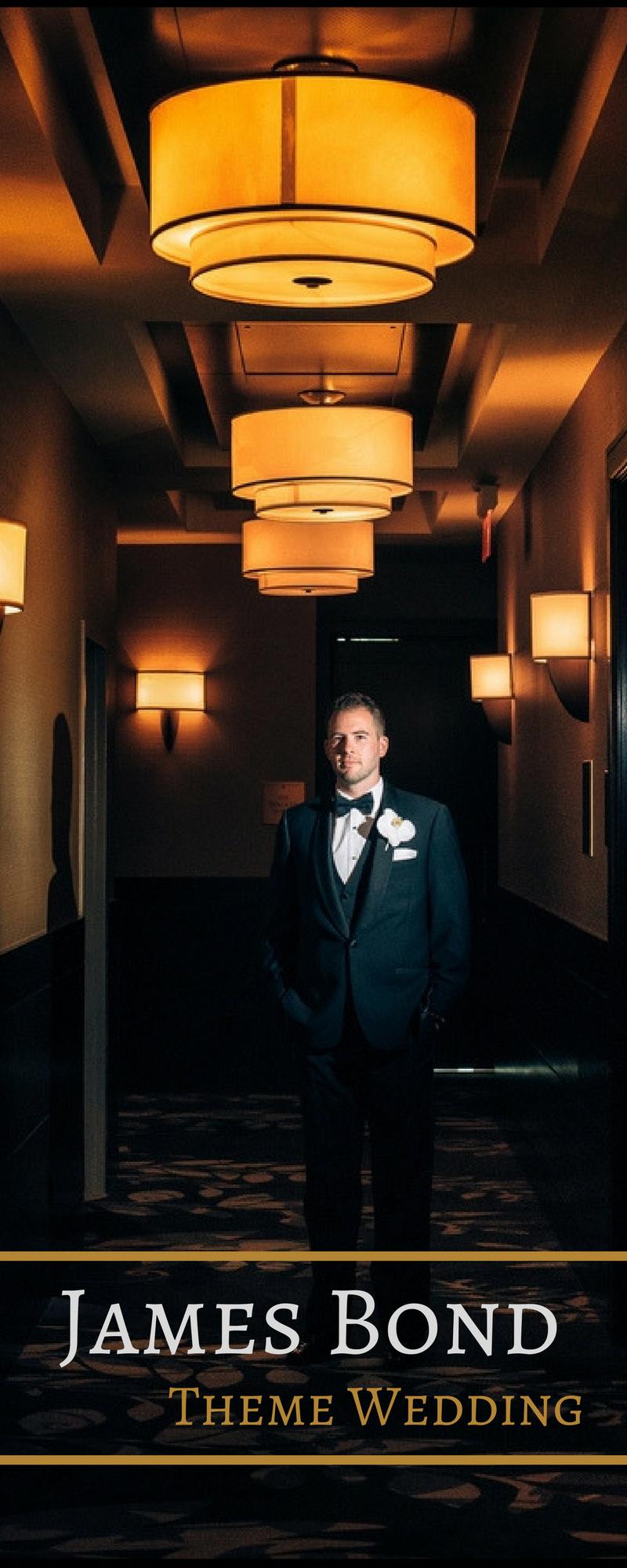 Classic and elegant james bond wedding theme inspiredbridenet