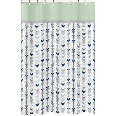 Sweet Jojo Designs Mod Arrow Microfiber Single Shower Curtain
