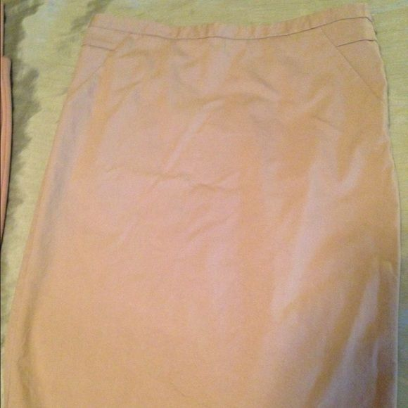 Khaki The Limited pencil skirt Khaki The Limited pencil skirt. Size 8. Back zipper. Knee length. The Limited Skirts Pencil