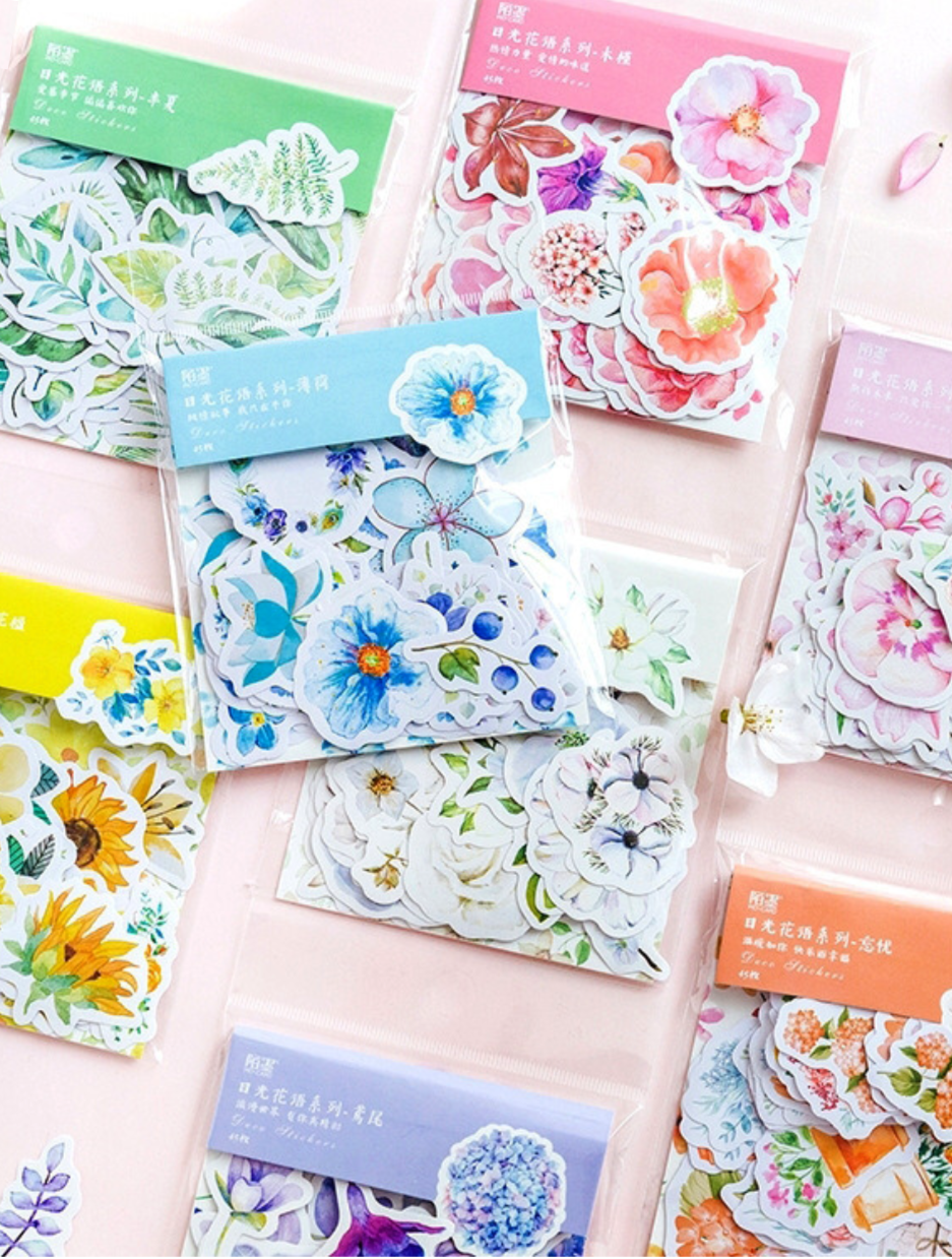 House Plants Bullet Journal Decorative Washi Scrapbooking Stickers Stick 45pcs