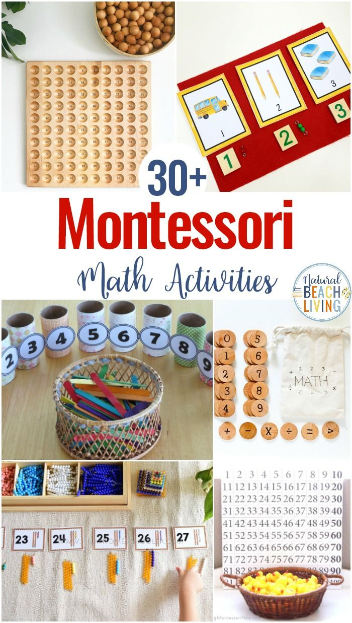 30+ Montessori Math Activities for Preschool and Kindergarten