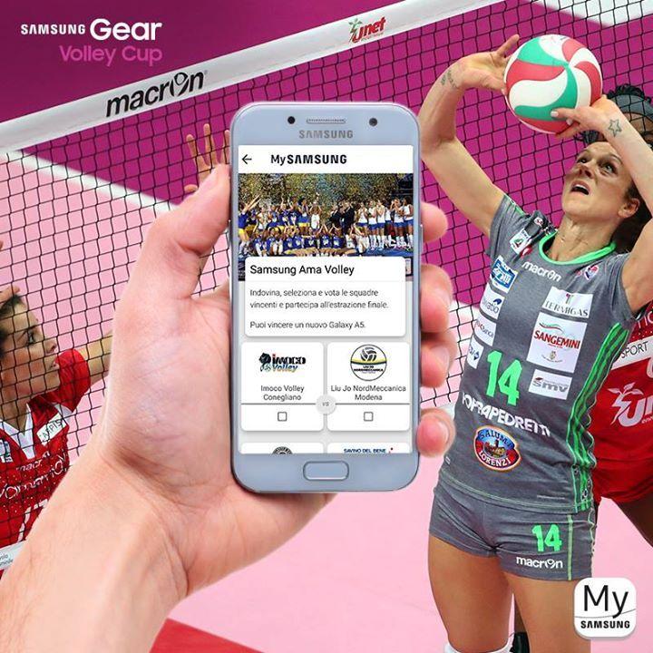 Prova ad indovinare le squadre vincenti della prossima giornata di campionato Lega Pallavolo Serie A Femminile, fino al 20/03 accedi a MySamsung, vota e prova a vincere #GalaxyA52017 #SamsungAmaVolley.