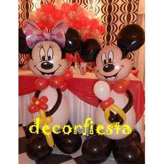 Decoracion Con Globos Mickey Y Minnie
