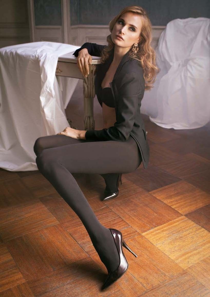2d3986d94 Trasparenze Cortina 100 Den Fashion Black Tights - Made in Italy