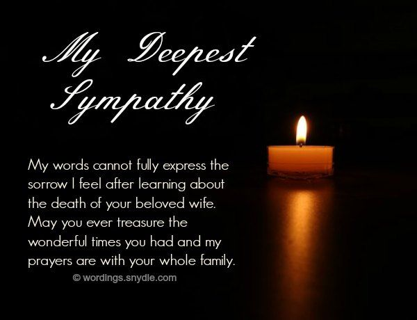 Sympathy Messages for Loss of a Wife Wordings and Messages mae