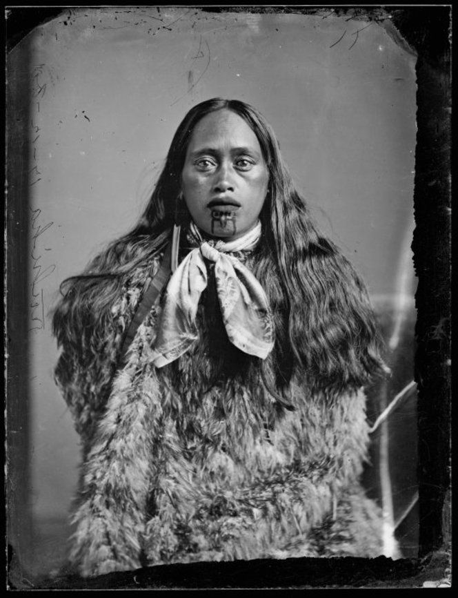 Ruhiha from Hawkes Bay district, taken on 17 December 1880 by Samuel Carnell of Napier. #Maori