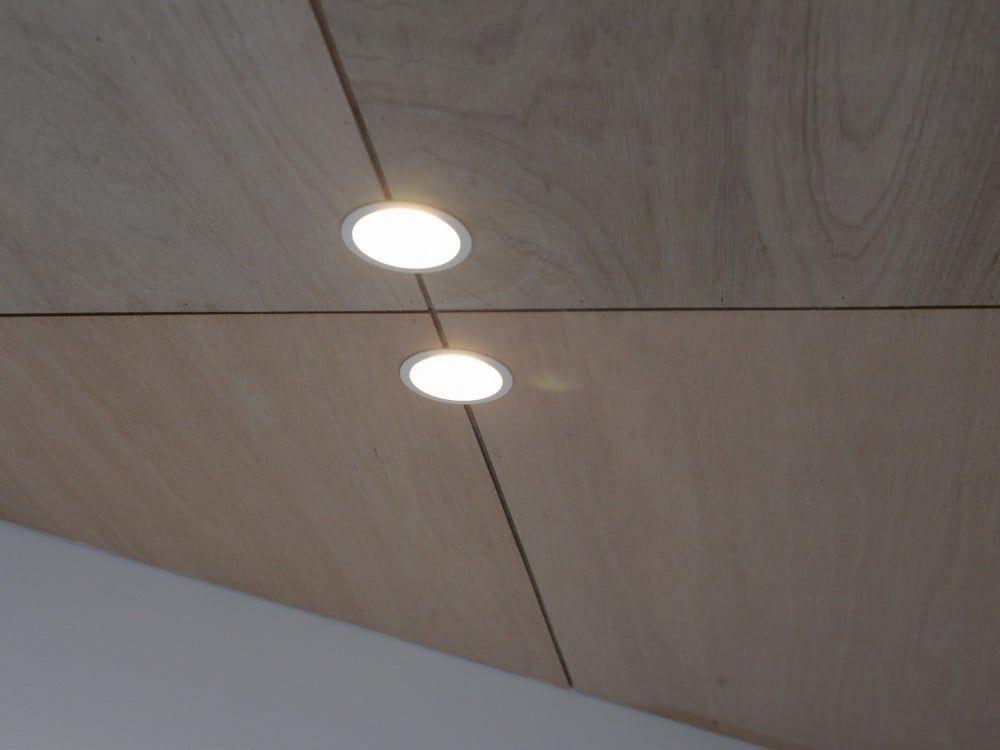 ラワン合板の目透し張り 天井 リビング キッチン リフォーム アイデア