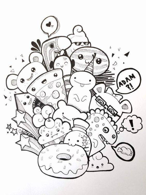 Imagenes Kawaii Dibujos Para Colorear Tiernos Y Bonitos Todo