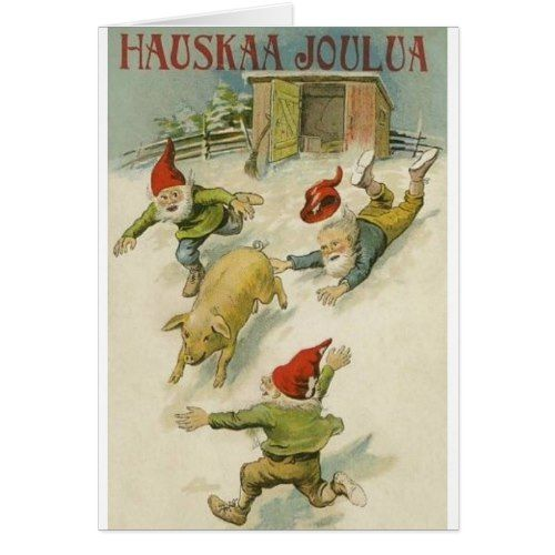 Vintage finnish elf and pig christmas card elves and vintage vintage finnish elf and pig christmas card m4hsunfo