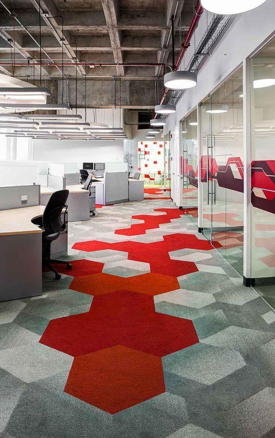 Creatieve vloeroplossing als interieur concept voor een anders ...