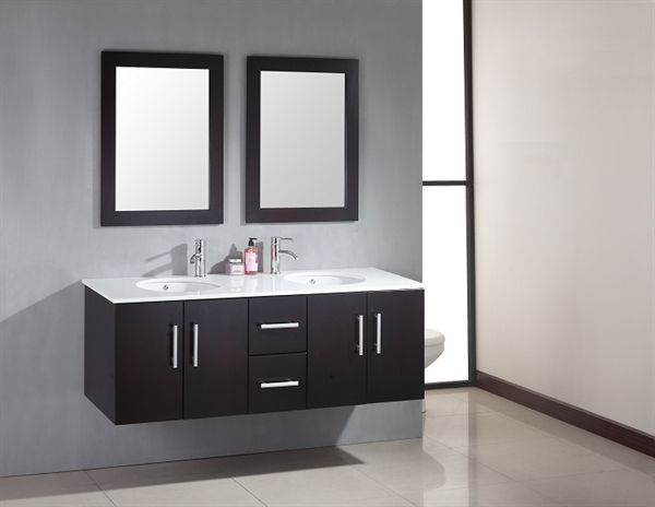 floating double vanity | Roselawnlutheran