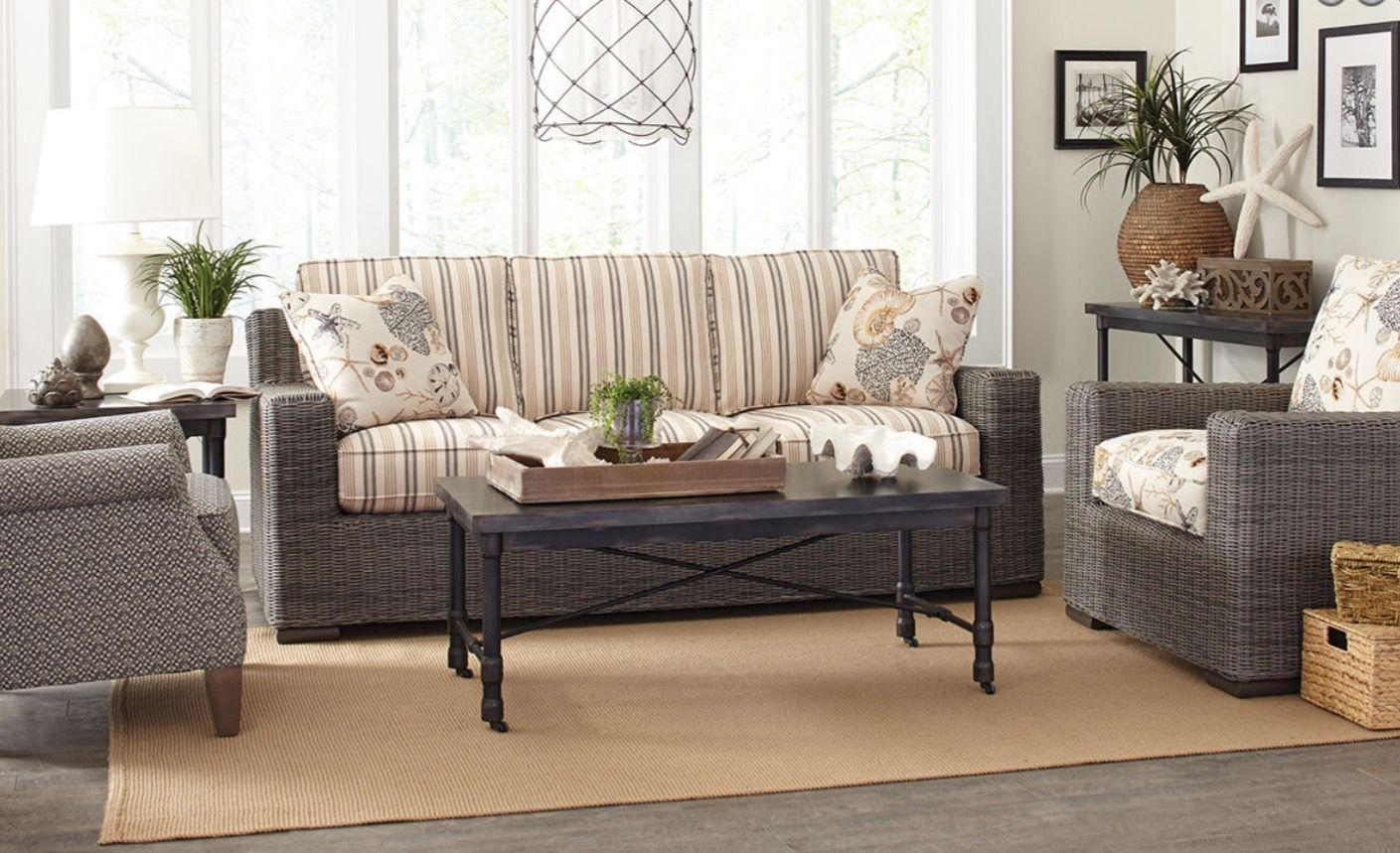 Paula Deen Wicker Furniture Manufactured By Craftmaster Furniture.  Comfortable, Beautiful And Perfect For Relaxing