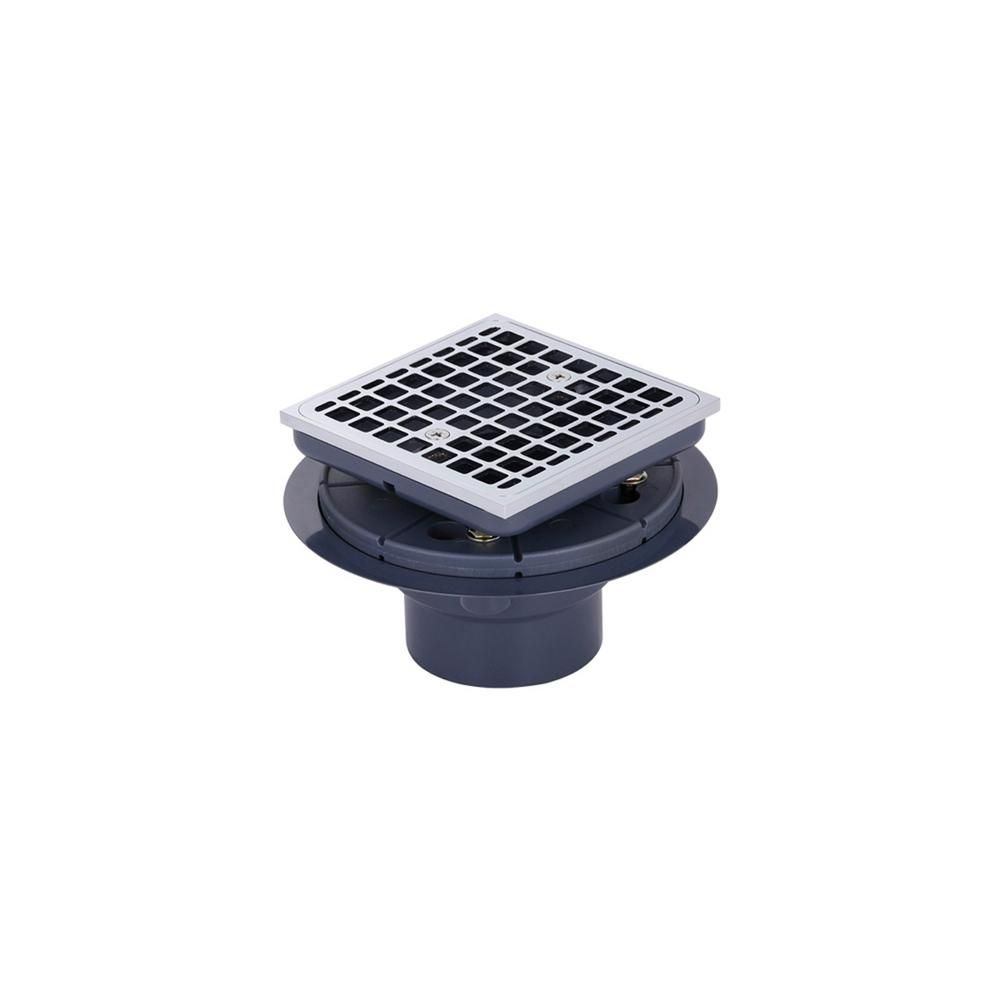 Ipt Sink Company Brass And Pvc Square Shower Drain And Strainer In