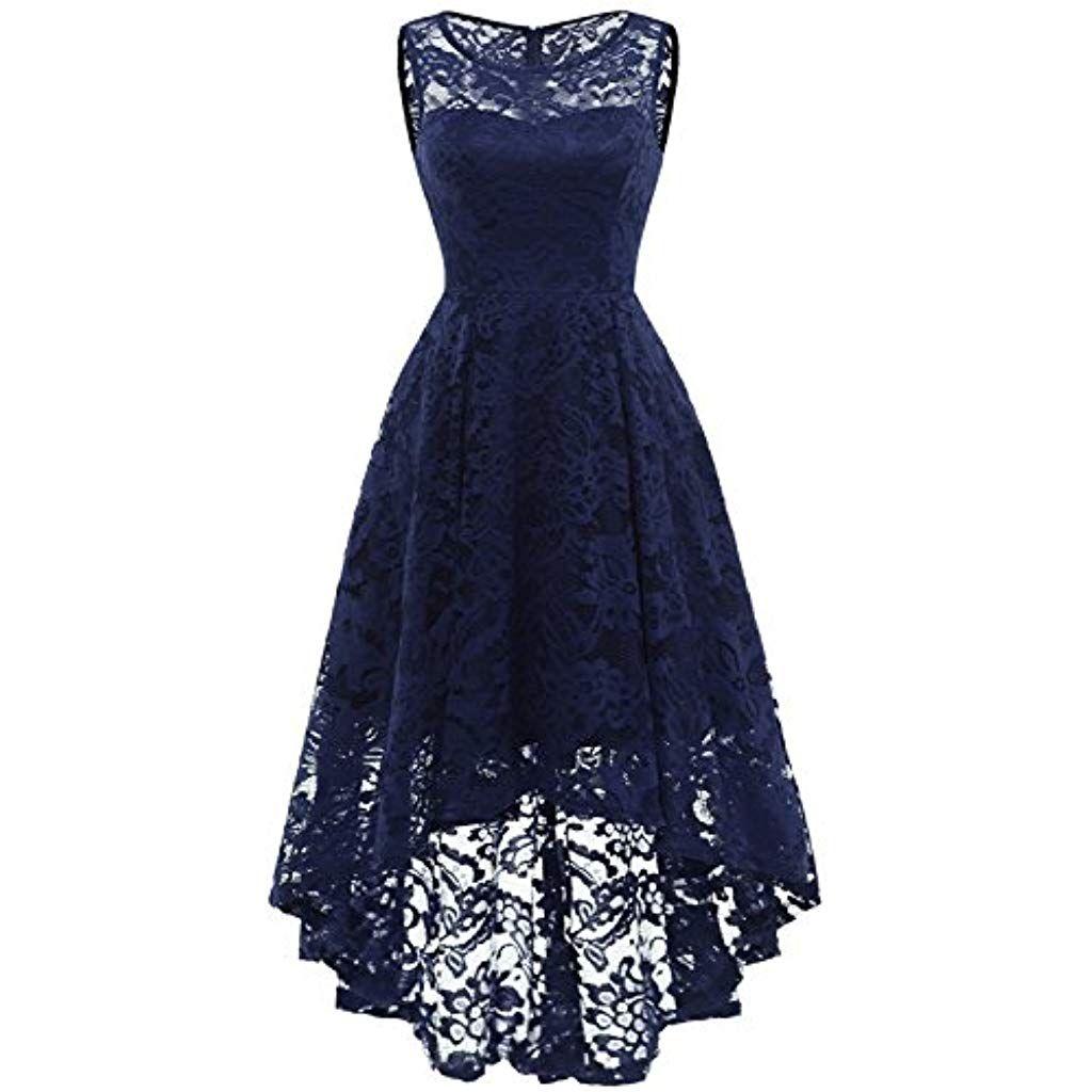 MUADRESS Elegant Kleid aus Spitzen Damen Ärmellos Unregelmässig