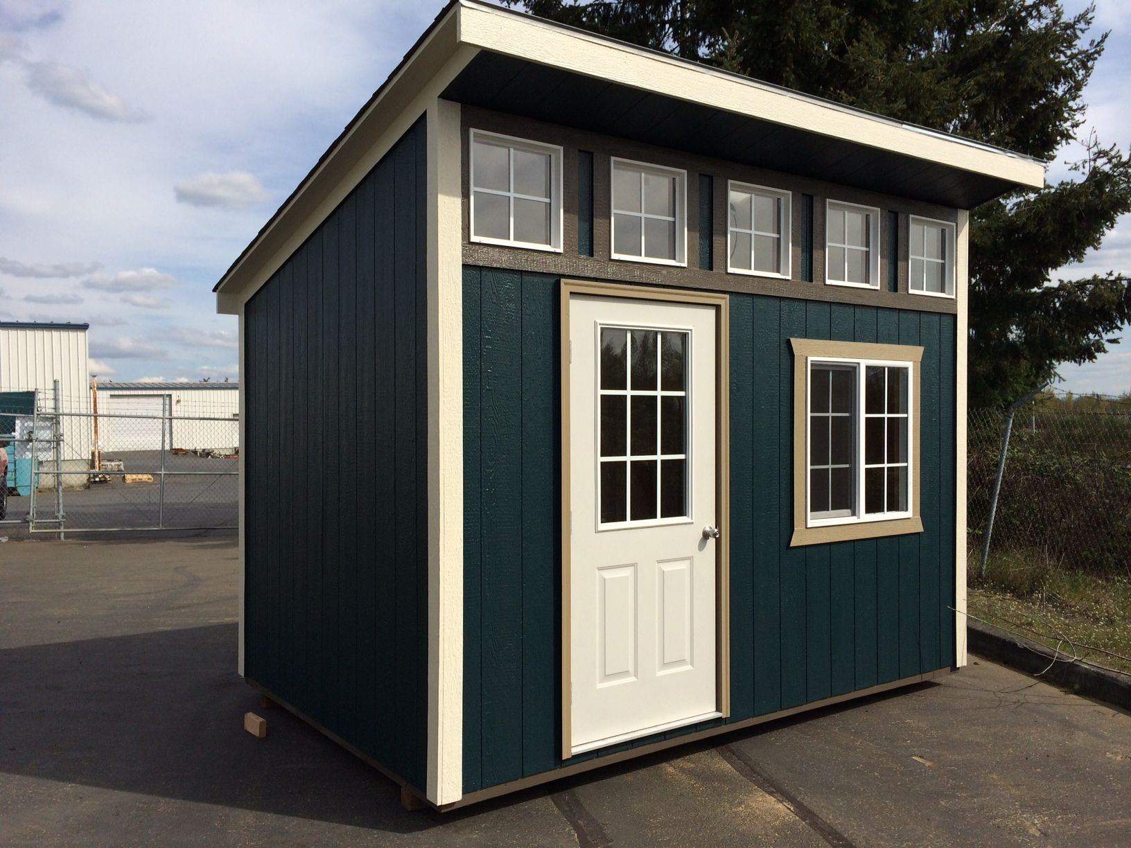 slant roof style with dormer storage garden shed tool shed