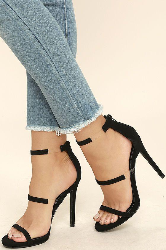 10e830449a57a8 Making Magic Black Nubuck High Heel Sandals