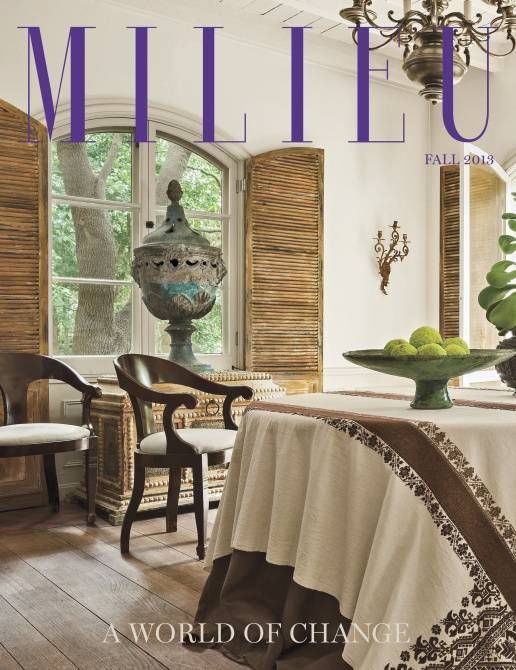 Milieu's debut issue features a Dallas house as well as homes in Switzerland, Belgium and California.