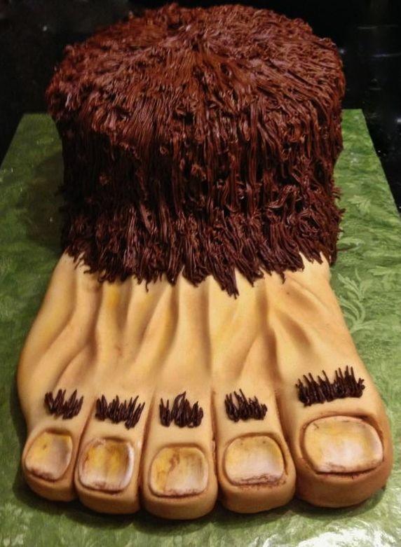 Sasquatch Cake Aka Bigfoot Birthday Cakes Pinterest