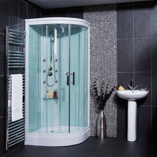 499.95 Aqualine Hydromassage Shower Cabin with 6 Body Jets ...