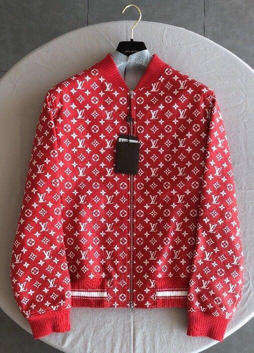 Supreme X Louis Vuitton Red Leather Blouson
