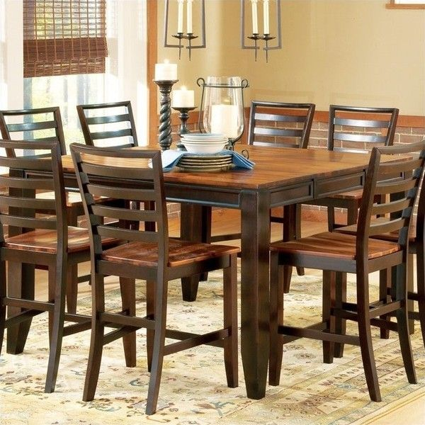 Steve Silver Company Abaco Counter Height Dining Table 590 Liked On Polyvore Featuring