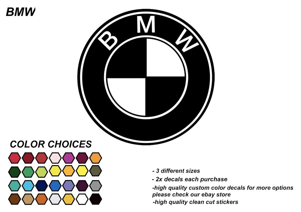 2 x bmw vinyl decal die cut car window bumper sticker jdm kdm 28 colors usa