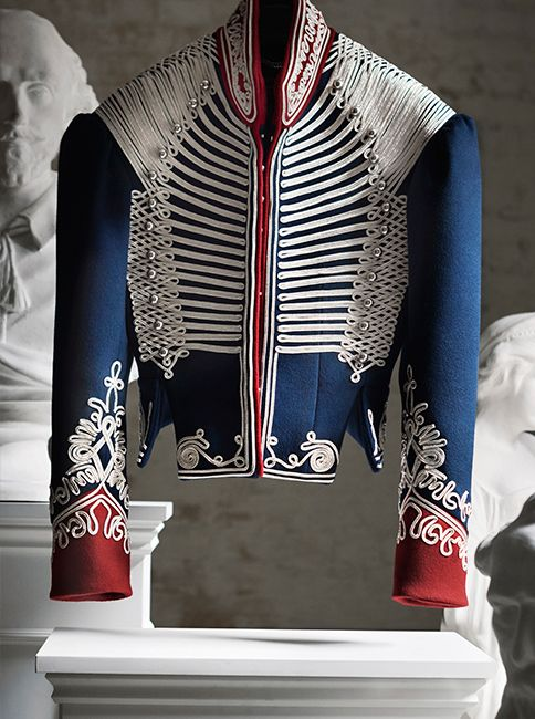 7778d27cc The Cavalry Jacket from the new Burberry collection. Featuring a corset-inspired  silhouette that s adorned with ornate braided regalia and domed shank ...