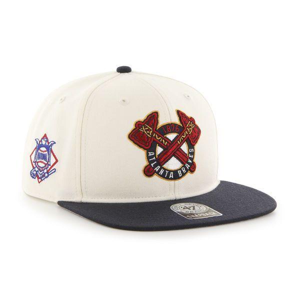 aff8f51f Atlanta Braves 47 Brand Sure Shot Alternative Logo Off White ...