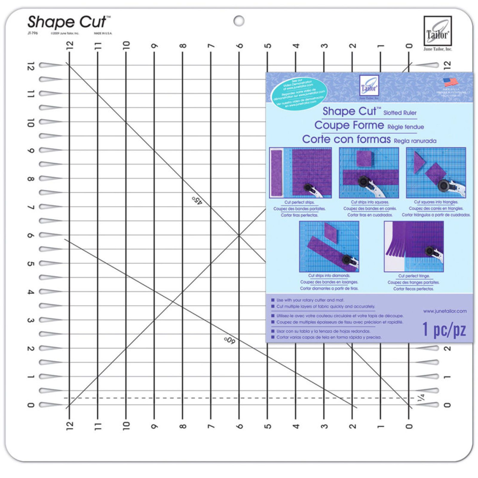 Shape Cut Slotted Ruler Quilting Rulers Shapes Ruler