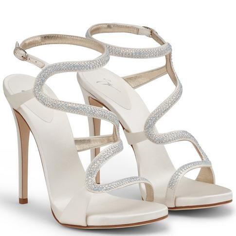 Wedding Bridal Shoes By Giuseppe Zanotti Model Alysa Satin