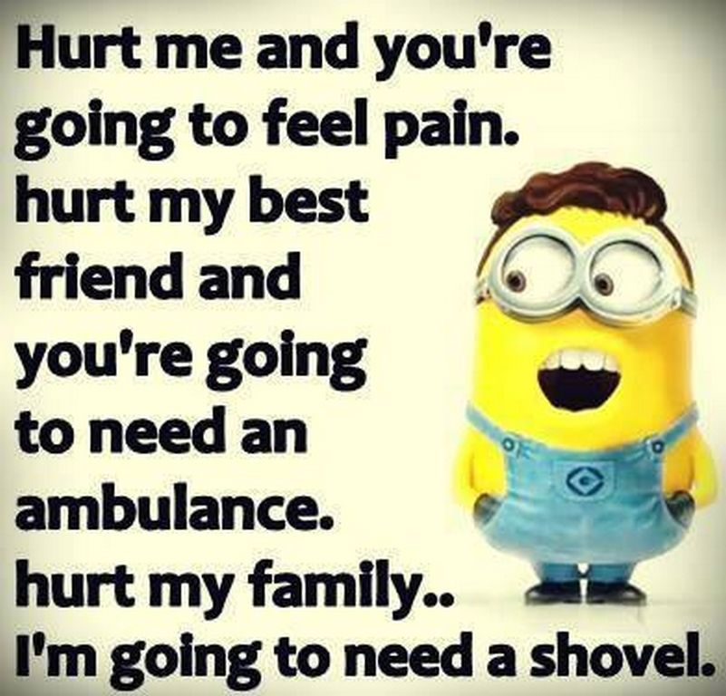 If You Hurt My Family Fun Quotes Funny Funny Minion Memes Funny Minion Quotes