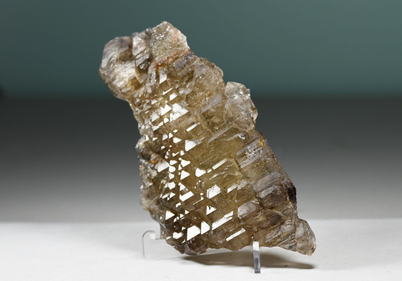 Elestial Smoky Quartz crystal from Brazil
