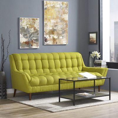 Modway Response Sofa Upholstery: Wheatgrass