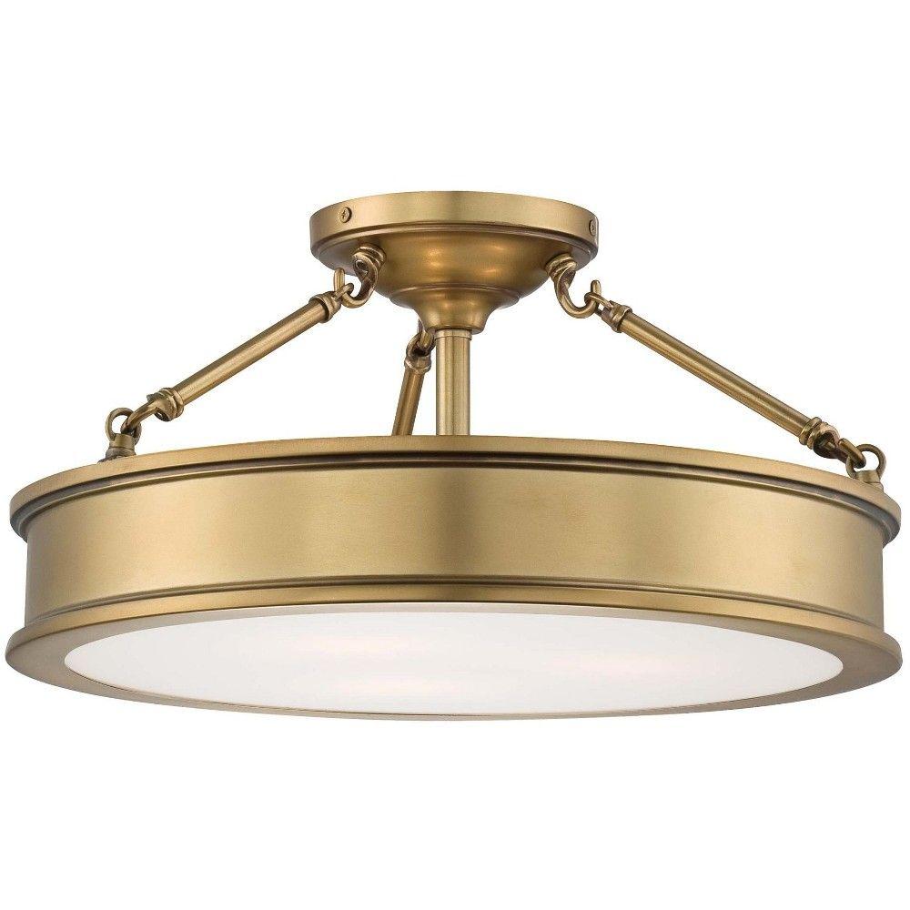 Minka Lavery 4177 249 3 Light 19 Wide Semi Flush Ceiling Fixture