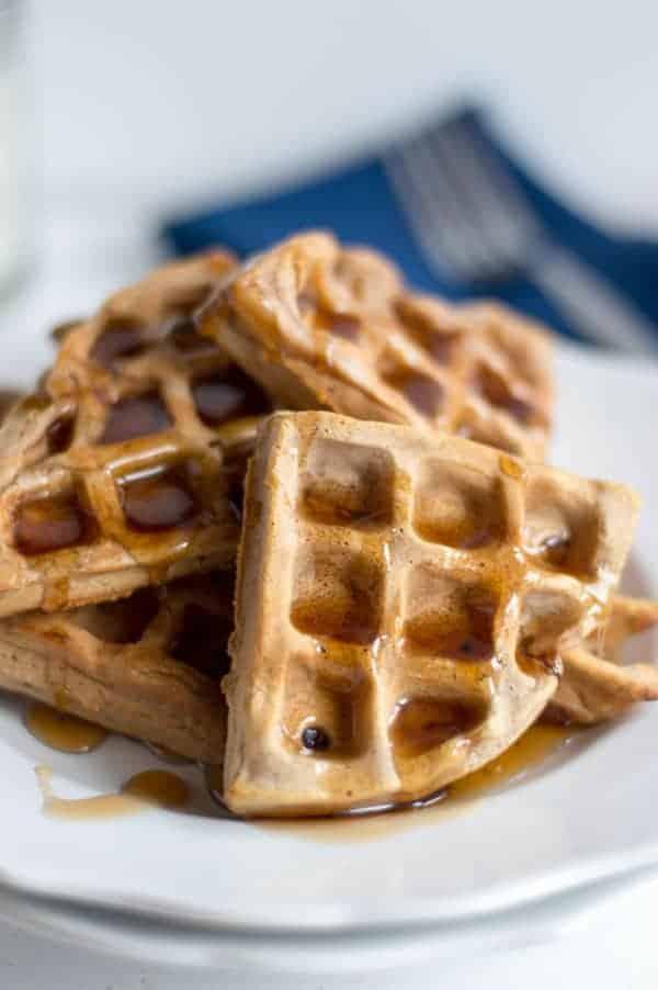 Cinnamon Brown Sugar Waffles Cook Craft Love Recipe In 2020 Homemade Waffles Waffles Recipe Homemade Waffle Recipes