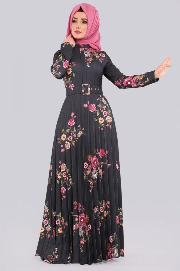 Kalin Kemerli Tesettur Elbise Prm3043 Mint Muslim Fashion Muslimah Dress Moslem Fashion