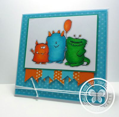 Stampin with Paula: Monster Birthday