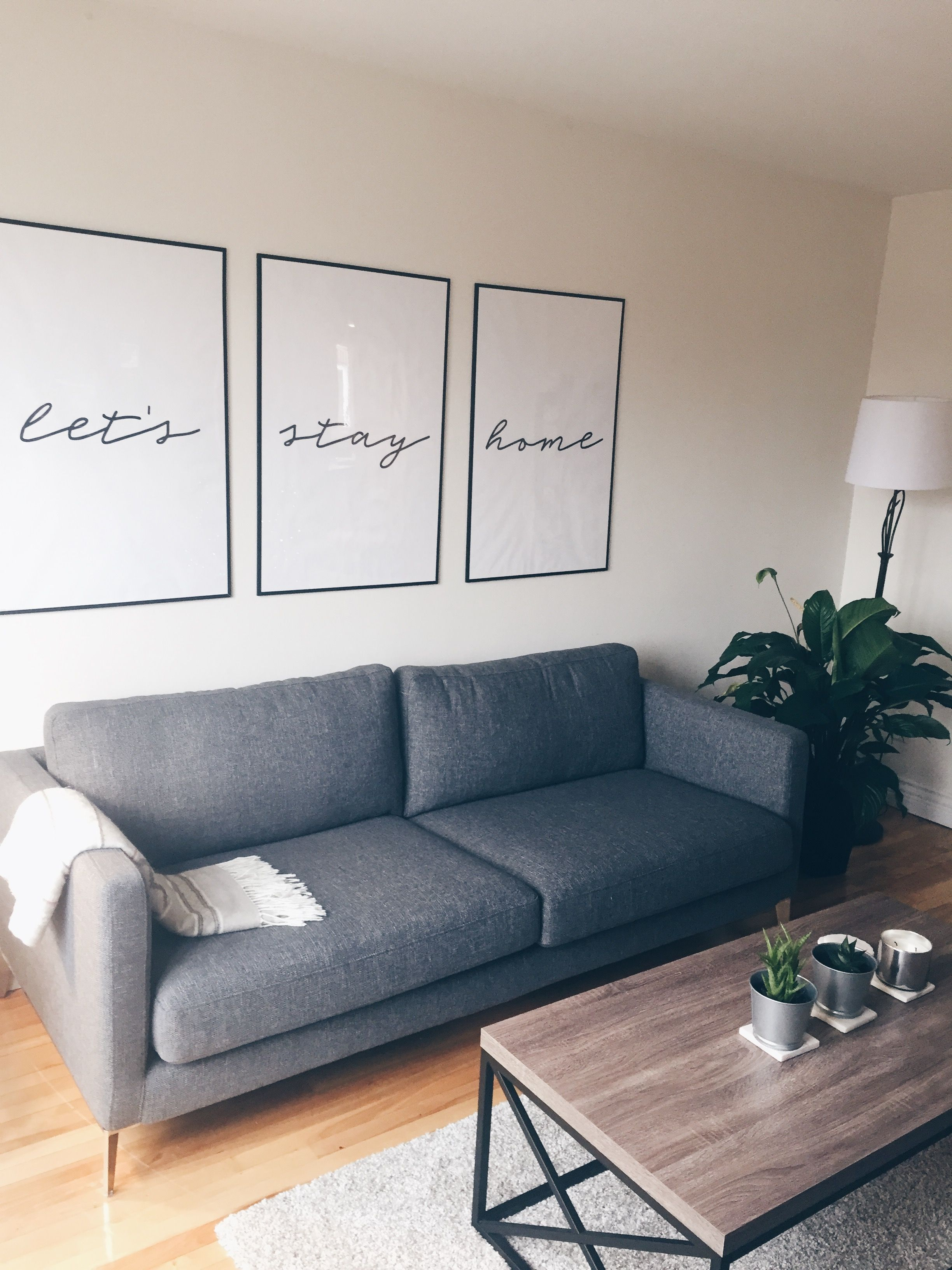 Minimalist, Grey, Wood, Hipster Living Room.
